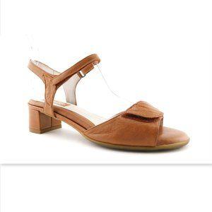 BEAUTIFEEL Natural Tan Leaf Ankle Strap Sandals 38